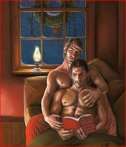 Сентиментальный гей рассказ, под Новый Год