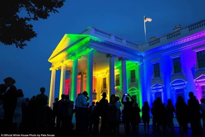 Барак Обама: Радуга на Белом доме