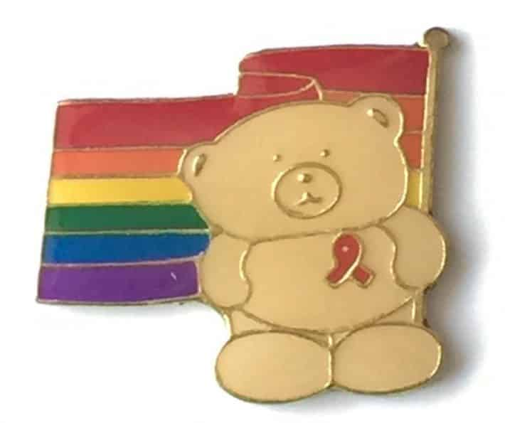 rainbow-lgbt-gay-pride-bear-wearing-red-ribbon-pin-badge-gold-plated-231926283362