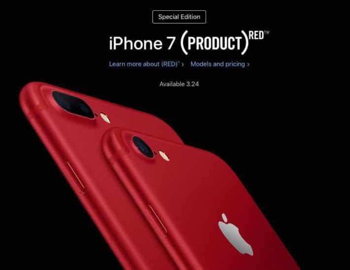Красные iPhone 7 и благотворительность Apple