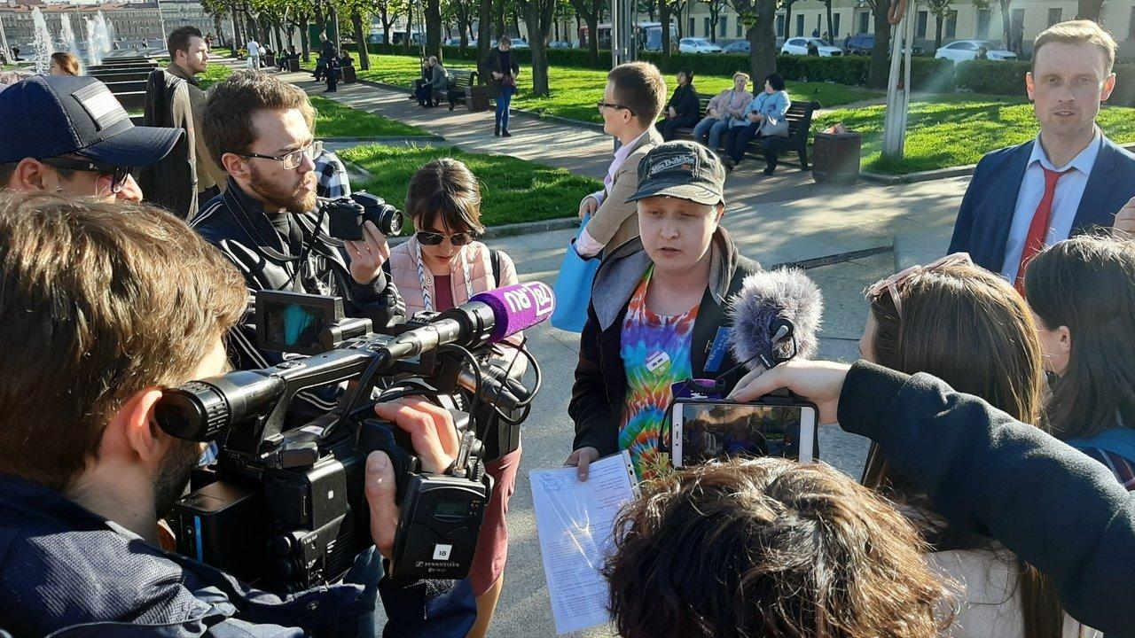 В Петербурге полиция задержала шестерых участников ЛГБТ-акции