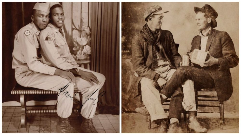 """В США вышел альбом """"Любовь: фотохроника влюблённых мужчин"""" в период с 1850 по 1950-е годы"""