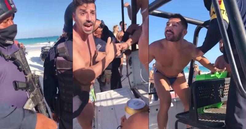 В Мексике целующихся геев отбили у полиции