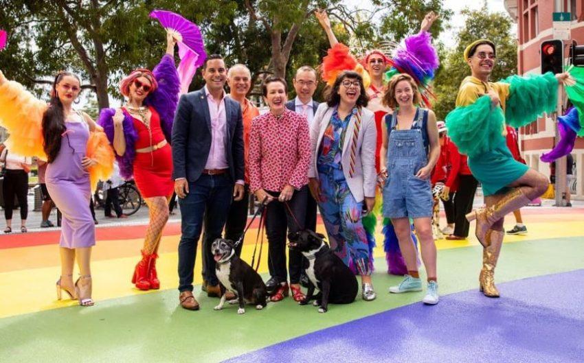 В парке Сиднея открыта радужная дорожка