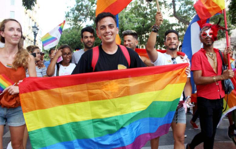 Jancel Moreno. Marcha comunidad LGTBIQ en La Habana, Cuba