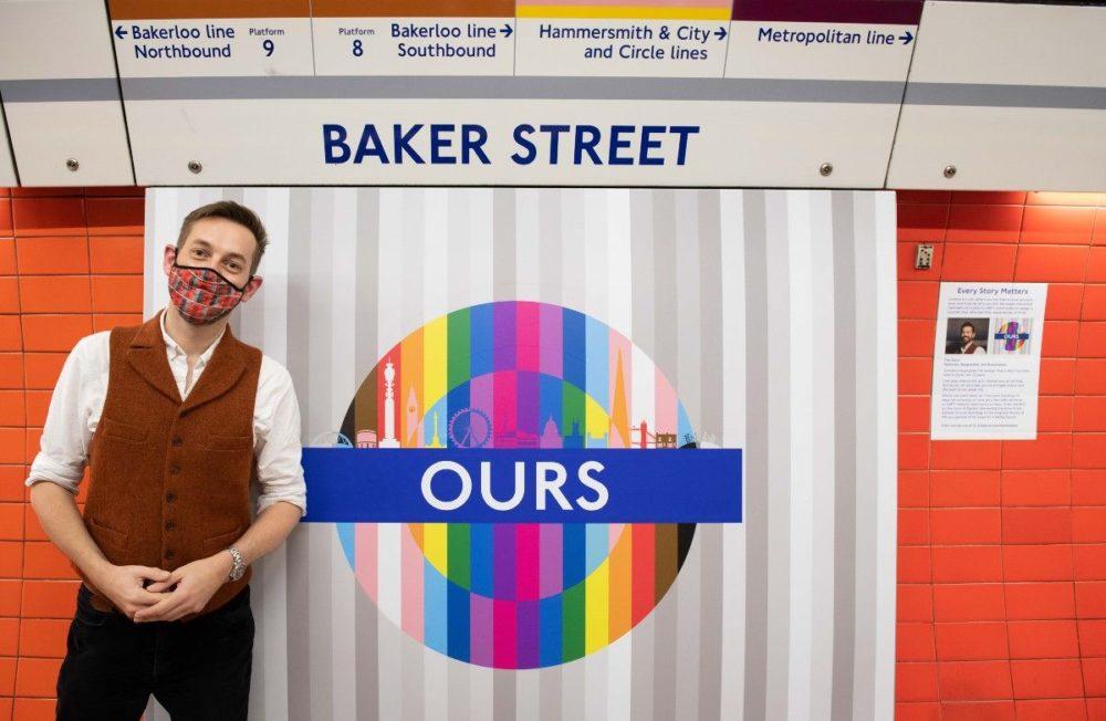 В лондонском метро размещены радужные знаки к Дню прайда